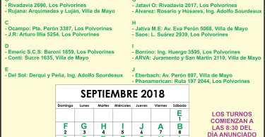 Farmacia de turno Mes Septiembre: Ing Adolfo Sourdeaux, Villa de Mayo y Los Polvorines.