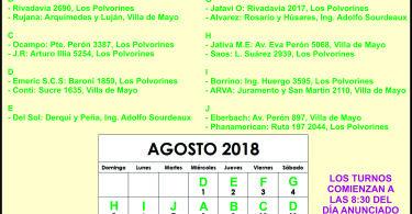 Farmacia de turno AGOSTO: ING. ADOLFO SOURDEAUX - VILLA DE MAYO - LOS POLVORINES