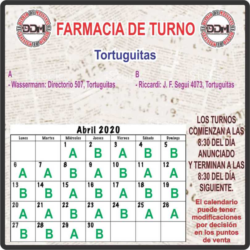 Farmacias de turno: Tortuguitas