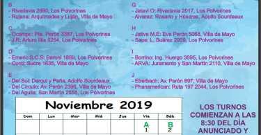 Farmacias de turno Noviembre 2019: Ing. Adolfo Sourdeaux, Villa de Mayo, Los Polvorines