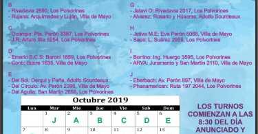 Farmacias de turno: Ing. Adolfo Sourdeaux, Villa de Mayo y Los Polvorines