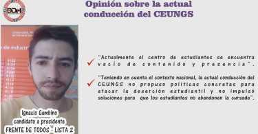 Candidato a Presidente: Ignacio Gambino