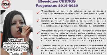 Candidata a Presidenta: Laura Lescano